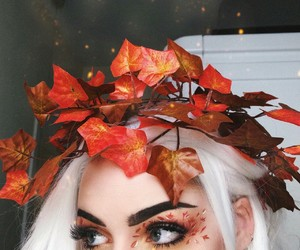 aesthetic, fall, and makeup image
