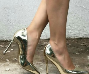 shoes and golden image