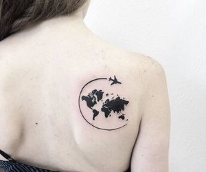 back, ink, and world image