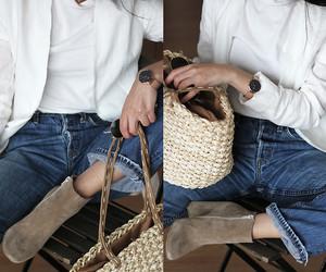 blazer, fashion, and jeans image