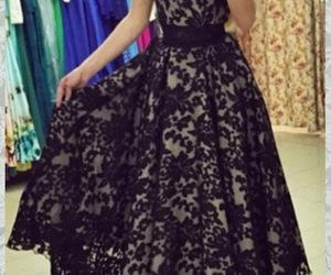 evening dress, black prom dress, and occasion dress image