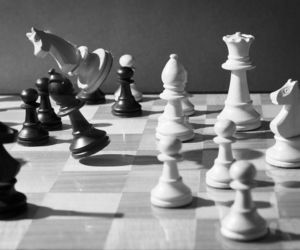 art, black and white, and chess image