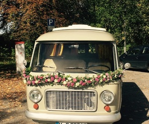 flowers, van, and vintage image