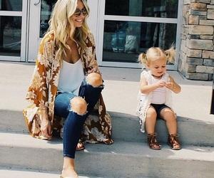 baby, fashion, and mom image