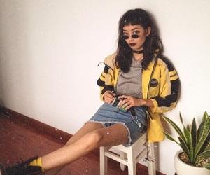 fashion, grunge, and yellow image