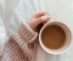 coffee, fall, and sweater image