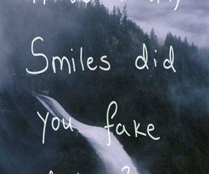 smile, fake, and sad image