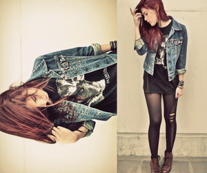 jeans, photography, and red hair image