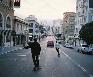 skate, boy, and city image