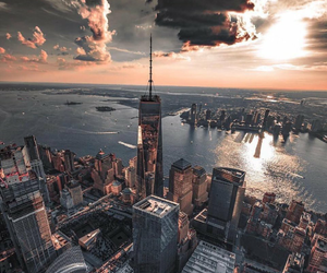 city, new york city, and buildings image
