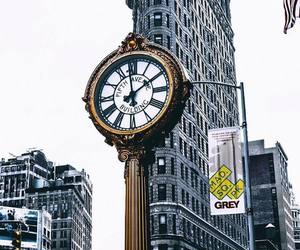 architecture, big apple, and clock image