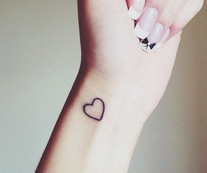 tattoo, heart, and nails image