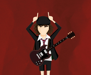 angus young, rock, and ac dc image