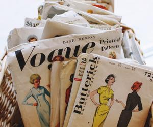 vogue, vintage, and magazine image