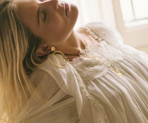 beauty, blonde hair, and boho image