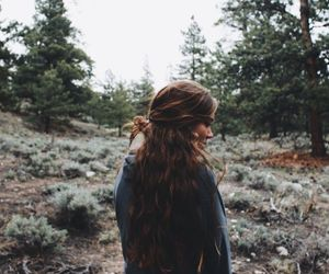girl, photography, and forest image