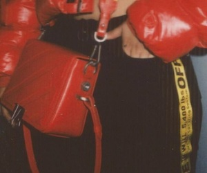 red, aesthetic, and bag image