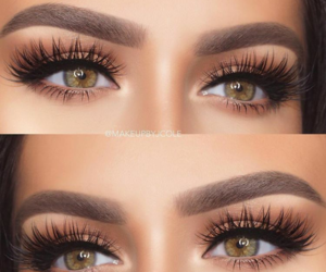 eyes, lashes, and huda beauty image