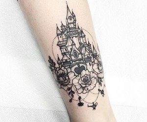 tattoo, castle, and disney image