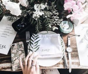 accessories, flowers, and brunch image