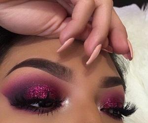 beautiful, eyebrows, and glitter image