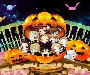 Halloween, chibi, and hetalia image