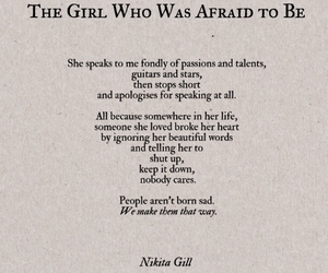 quotes, nikita gill, and sad image
