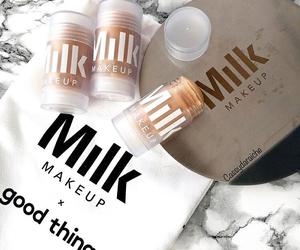 makeup and milk image