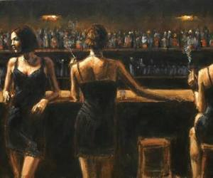 bar and women image