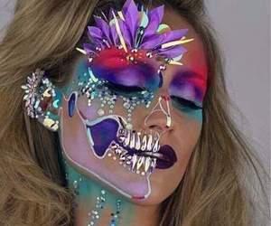 makeup, Halloween, and colors image