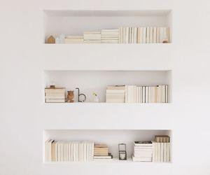 book, white, and bookshelf image