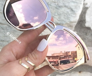 dior, pink, and sunglasess image