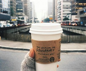 autumn, coffee, and nyc image