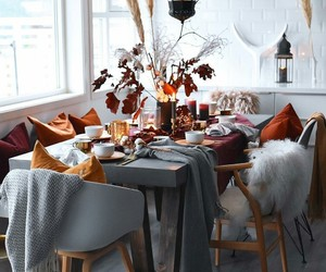 dining room, fall, and home image