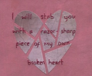 heart, pink, and broken heart image