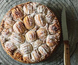 almond milk, apple, and cake image