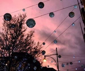 sky, pink, and light image