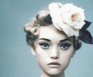 flowers, girl, and Gemma Ward image
