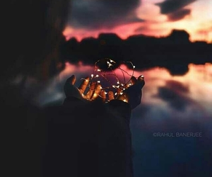 light, sunset, and photography image