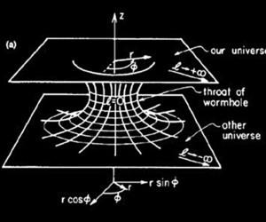 universe and wormhole image