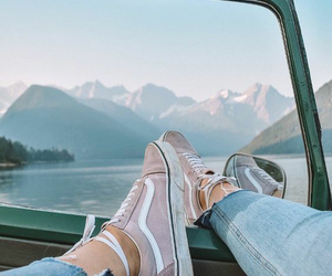 vans, travel, and mountains image