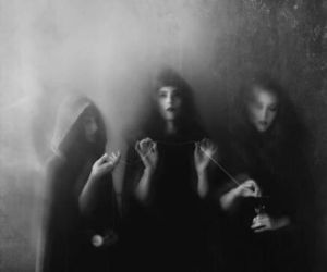 witch, dark, and black and white image