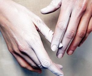 hands and white image
