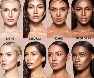 contour, makeup, and skin image