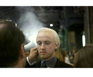 behind the scenes, deathly hallows, and draco malfoy image
