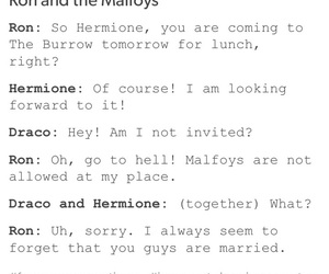draco malfoy, funny, and hermione granger image