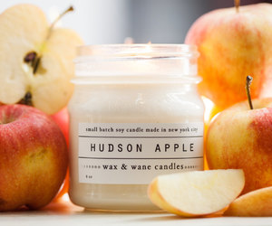 candle, autumn, and apple image