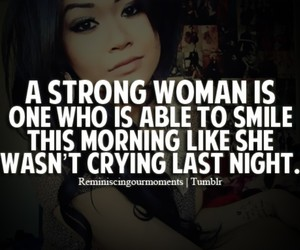 quotes, woman, and strong image
