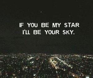 love, sky, and star image