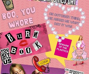 burn book, loser, and mean girls image
